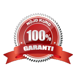 100 procent nöjd kund garanti